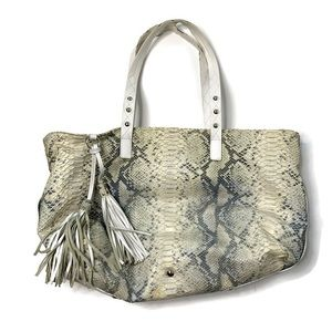 Cavalcantt Snake Skin Print Italian Leather Purse